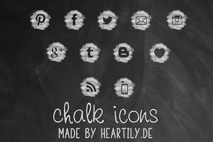 Chalk Icon Brushes & Vectors
