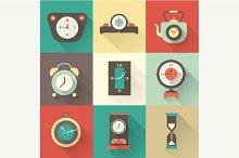 Vector clock icons