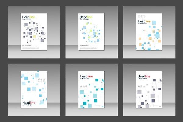 Brochure square pattern design