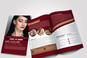 4 Pages Salon Bi Fold Brochure