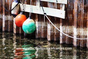Buoy on rusty dock