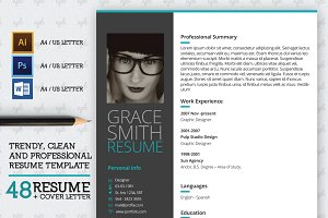 48 Resume and Cover Letter Template