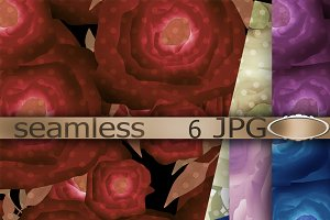Seamless textile design paper Roses
