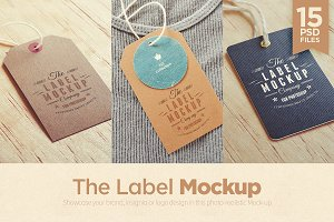 Tags / Labels Logo Mockup