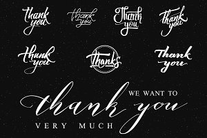 Thank You - Stickers, Prints.