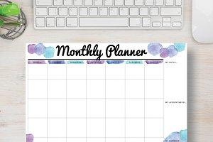 Blue Planner: Letter Size