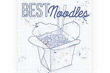 Chinese noodles box