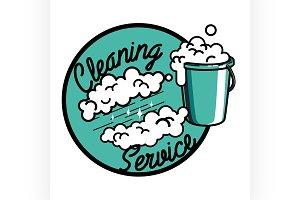 vintage cleaning service emblem