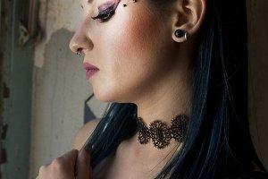 grunge portrait of woman