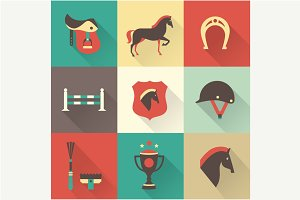 Vector horse icons