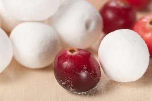 Cranberry in a sugar powder