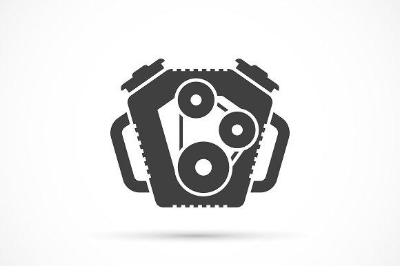 Car Engine Icon Icons Creative Market