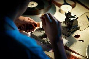 Vintage film editing #1