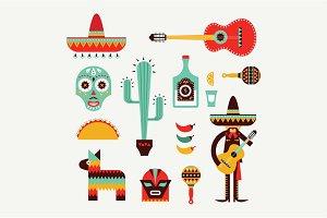 Vector Mexico icons