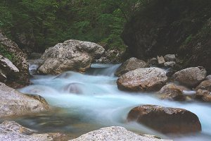 Mountain river in spring