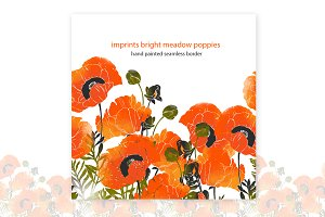 bright meadow poppies