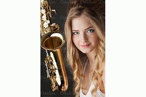 Jazz sax.