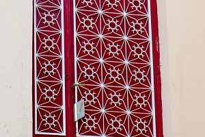 White on Red Door