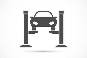 Car lifting icon