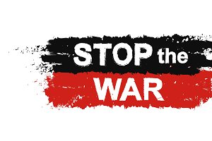 Stop the war sign. Vector
