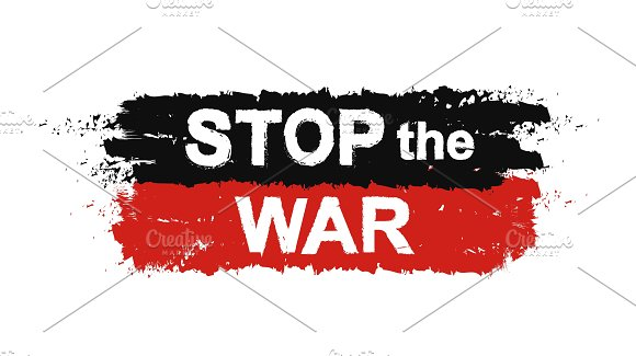 Stop the war sign. Vector - Illustrations