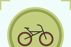 Bike color icon. Vector