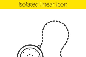Tea ball infuser linear icon. Vector