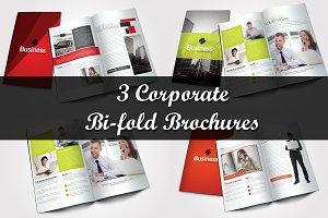 3 Corporate Bi Fold Brochure Bundle