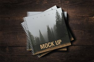 SALE - Spiral Book Cover Mockup