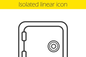 Safe deposit box linear icon. Vector
