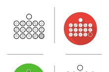 Billiard balls. 4 icons. Vector