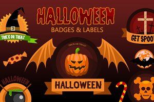 Halloween Badges and Labels
