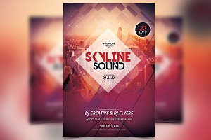 Skyline Sound - PSD Flyer