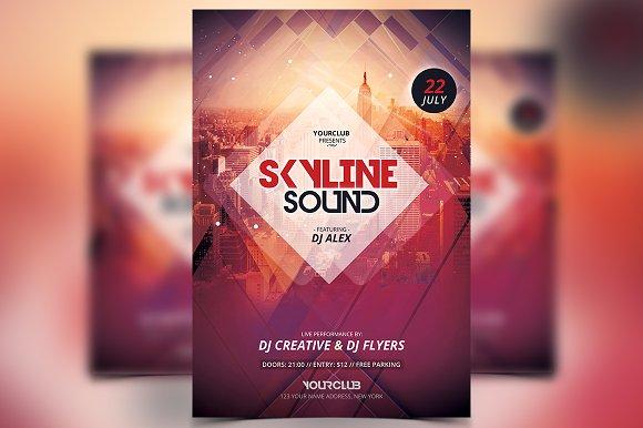 Skyline Sound - PSD Flyer