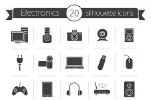 Electronics. 20 icons. Vect