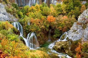 Fall in Plitvice Lakes National Park