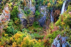 Valley In Autumn Mountains