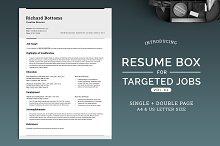 Resume Box for Targeted Jobs V.2