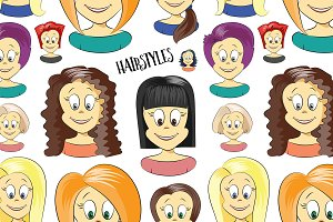 Hairstyles pattern