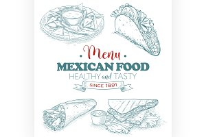 scetch mexican food menu