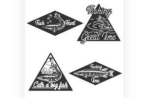 Vintage fishing emblems