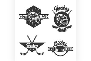vintage Hockey emblems