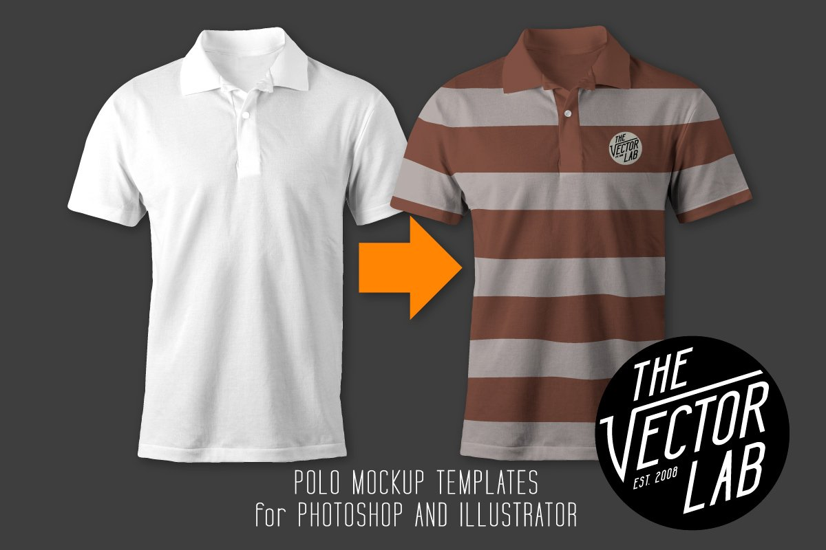 Men 39 s polo shirt mockup templates product mockups for Free polo shirt mockup
