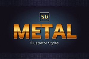 50 Metal Illustrator Styles