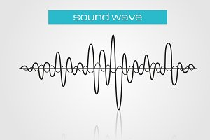 Sound wave music design element