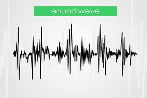 Sound wave modern music design