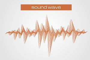 Abstract equalizer sound wave