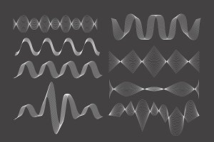 Set of vector sound waves.