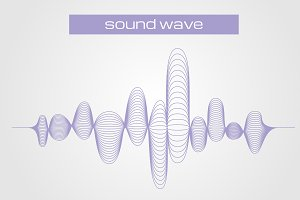 Sound digital equalizer wave