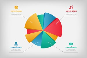 modern pie chart photos graphics fonts themes templates